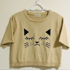 Peps Loves Kitty Crop Sweater